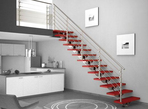 Rampes d escalier en acier inoxydable chicoutimi - Installation de rampe d escalier ...